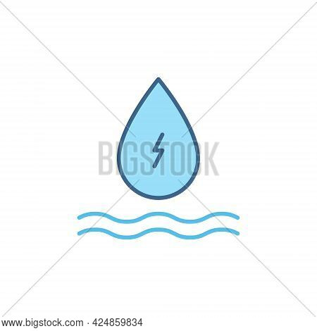Hydro Energy Water Drop Vector Concept Colored Icon
