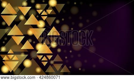Abstract Background, Geometric Pattern, Triangles Background, Gradient Smooth Decorative Background