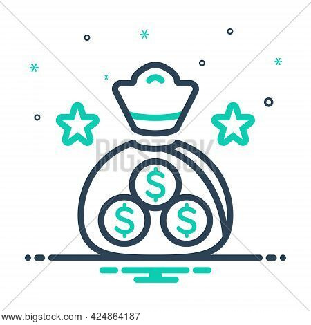 Mix Icon For Finance Economy Currency Wage Emolument