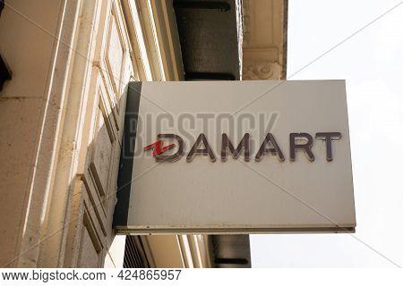 Bordeaux , Aquitaine France  - 06 20 2021 : Damart Logo Brand And Text Boutique Sign Store Fashion S