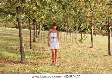 Young Woman Outdoors Portrait