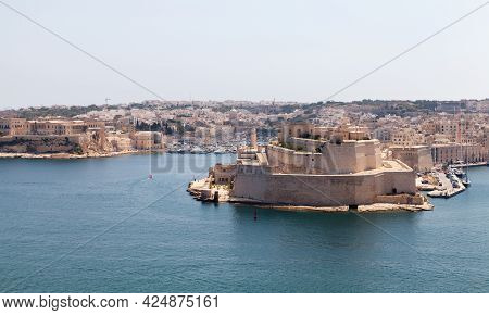 Fort St. Angelo. A Bastioned Fort In Birgu, Malta. It Was Originally Built In The Medieval Period