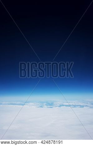 Flying Over A Glacier, A View From Low Earth Orbit