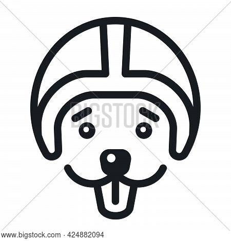 Outline Illustration Of The Racer Dog Logo For Pet Transportation Service