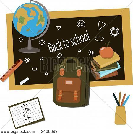 School Set Subjects September Autumn Lesson, Collection, Objects,