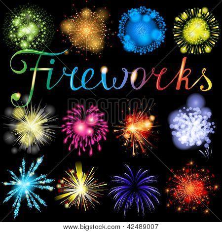 Great highly detailed fireworks set. EPS 10
