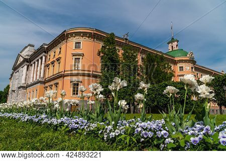 Russia. Saint-petersburg. June 5, 2021. Mikhailovsky, Also Known As The Engineering Castle , Is The