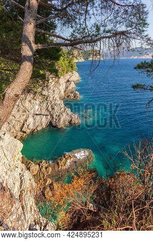 Shoreline And Adriatic Sea Scenic Landscape On The Coast Path To Petrovac, Montenegro, Balkans, Euro
