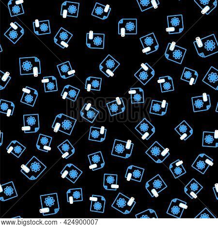 Line Max File Document. Download Max Button Icon Isolated Seamless Pattern On Black Background. Max