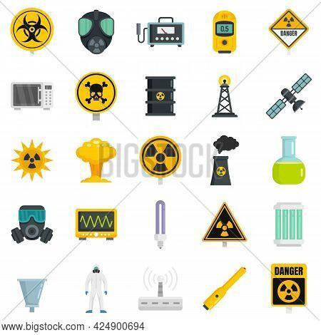 Radiation Icons Set. Flat Set Of Radiation Vector Icons Isolated On White Background