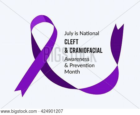 July Is National Cleft And Craniofacial Awareness And Prevention Month. Vector Illustration
