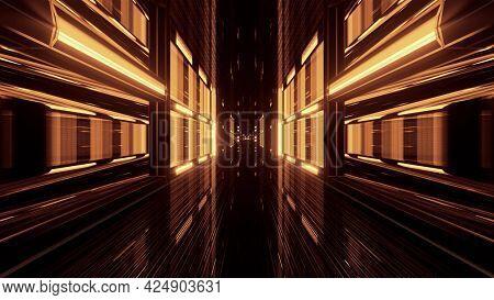 Sepia 3d Illustration Of Tunnel In 4k Uhd