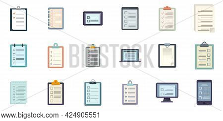 To-do List Icons Set. Flat Set Of To-do List Vector Icons Isolated On White Background
