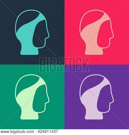 Pop Art Diving Hood Icon Isolated On Color Background. Spearfishing Hat Winter Swim Hood. Diving Und
