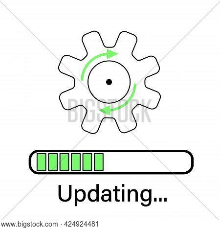 Loading Process. Update System Icon. Concept Of Upgrade Application Progress Icon For Graphic And We