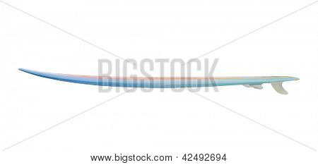 Vintage 80's Surfboard isolated on white