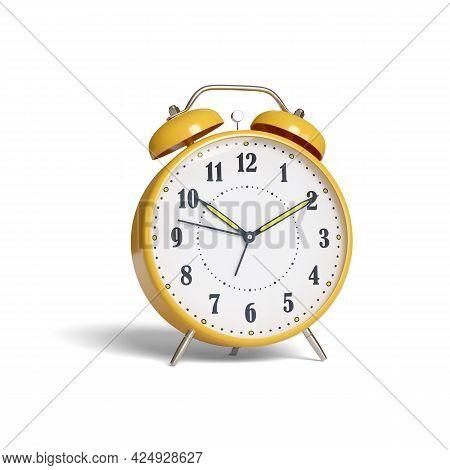 Alarm Clock Isolated On White Background. 3d Illustration.