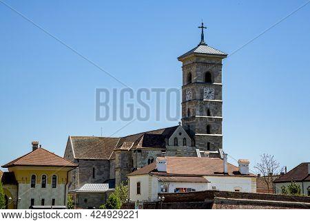 Alba Iulia, Alba, Romania -  May 11, 2021: St. Michael\'s Roman Catholic Cathedral In Fortress Of Al