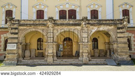 Alba Iulia, Alba, Romania -  May 11, 2021:  The Union Museum In Alba Iulia, Transylvania
