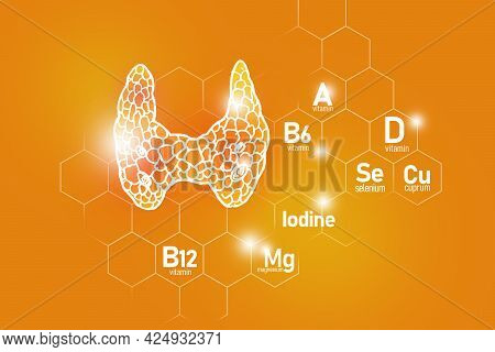Essential Nutrients For Gall Bladder Health Including Iodine, Selenuim, Vitamin B6, Cuprum. Design S