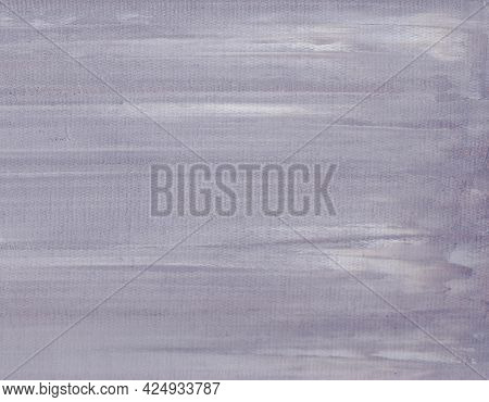 Gray Background Is Painted In Oil The Texture Of Oil And A Palette Knife Is Visible