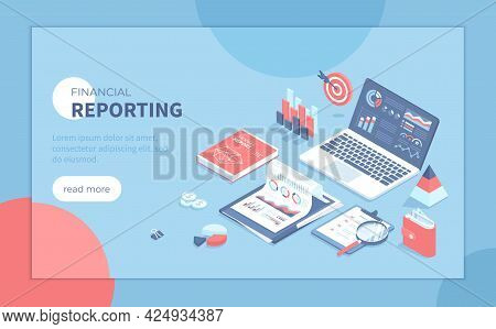 Financial Report. Analytics, Analysis, Audit, Results, Research. Documents, Reports, Graphs And Char