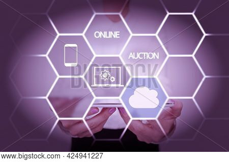 Inspiration Showing Sign Online Auction. Business Concept Digitized Sale Event Which Item Is Sold To