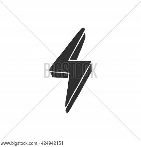 Hand Drawn Electric Lightening Element. Comic Doodle Sketch Style. Thunderbolt For Flash, Energy Con