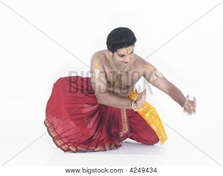 Classical Male Dancer Bharathanatyam