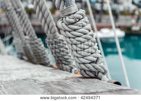 Ropes On A Sailing Ship