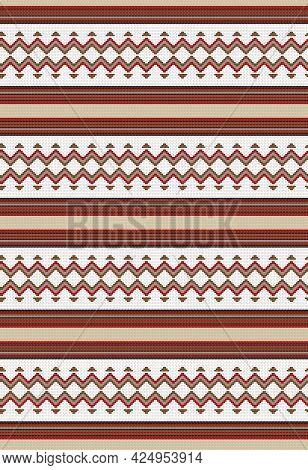 Ethnic Boho Seamless Pattern. Tribal Geometric Ornament.