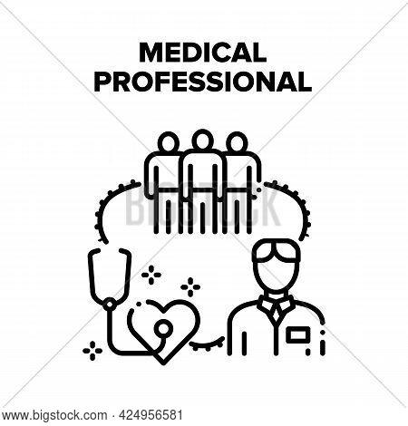 Medical Professional Team Vector Icon Concept. Medical Professional Team For Examination Patient Hea