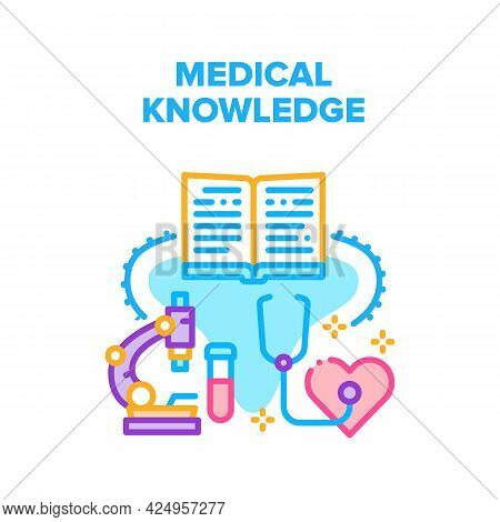 Medical Doctor Knowledge Vector Icon Concept. Medical Doctor Knowledge And Education, Scientist Rese