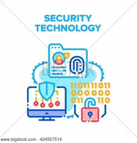 Security Digital Technology Vector Icon Concept. Protective Software And System For Safe Private Inf