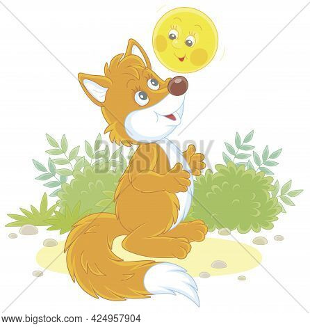 Freshly Backed Happy Round Loaf Friendly Smiling And Singing A Merry Song To A Sly Red Fox On A Fore
