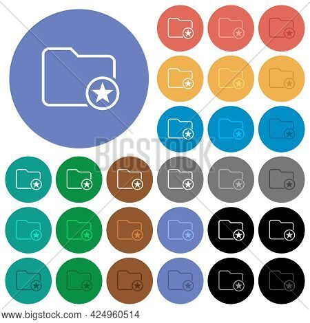 Mark Directory Outline Multi Colored Flat Icons On Round Backgrounds. Included White, Light And Dark
