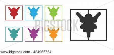 Black Rorschach Test Icon Isolated On White Background. Psycho Diagnostic Inkblot Test Rorschach. Se