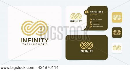 Infinity Monogram Logo Design Concept. Logo Can Be Used For Brand, Symbol, Icon, And Business Compan