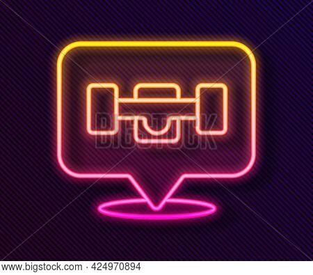 Glowing Neon Line Skateboard Wheel Icon Isolated On Black Background. Skateboard Suspension. Skate W