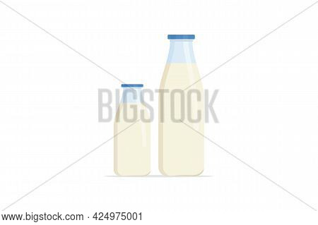 Milk Vector Isolated On White Background. Milk Icon Thin Line Outline Linear Milk Symbol For Logo, W