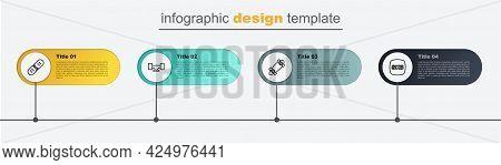 Set Line Skateboard, Longboard Or Skateboard, Wheel And Broken Deck. Business Infographic Template.