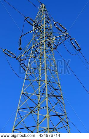 Huge Power Pole Transmitting Electricity To The City