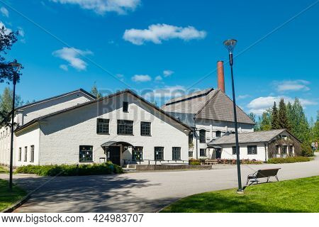 Riihimaki, Finland, 29 May 2021: The Building Of Finnish Glass Museum
