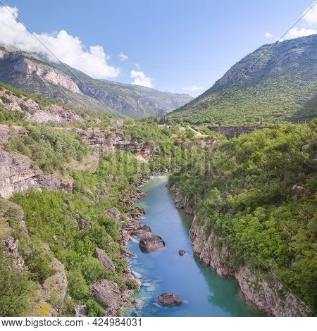 The Canyon Of The River Tara In Montenegro.