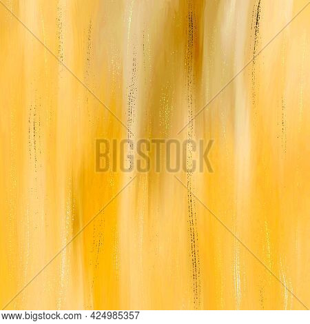 Abstract Yellow Watercolor Background, Hand-painted Textures With Paint, The Strokes, The Stripes.