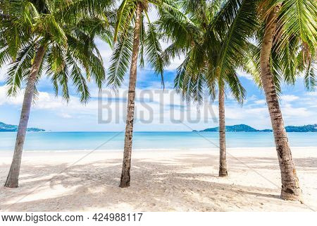 Patong Beach In Phuket, Thailand. Phuket Is A Popular Destination Famous For Its Beaches.