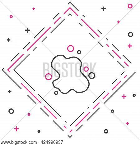 Line Water Spill Icon Isolated On White Background. Colorful Outline Concept. Vector