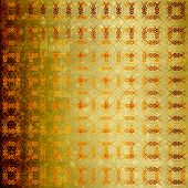 Abstract ancient background in scrapbooking style with gold ornamental poster