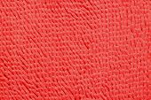 Red Microfiber bath mat in the background poster