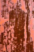 The texture of the old rusty iron painted pink poster